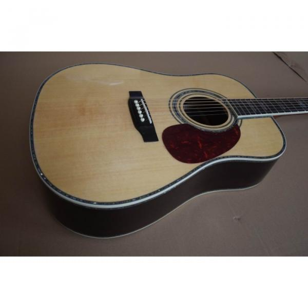 Custom D45 Acoustic Electric Guitar Natural Finish Sitka Solid Spruce #1 image