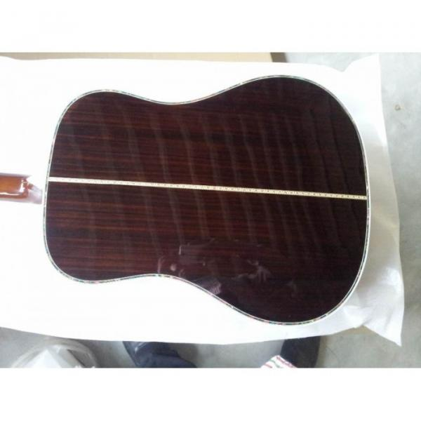 Custom 41 Inch Sitka Solid Spruce Top With Ox Bone Nut & Saddler Acoustic Guitar #3 image