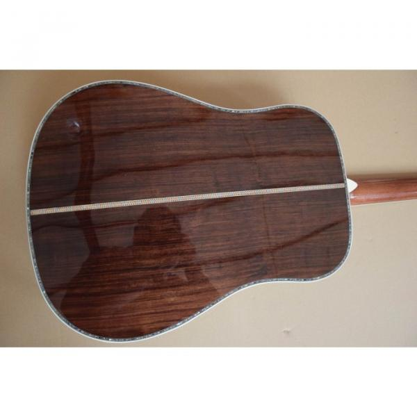 Custom D45 Acoustic Electric Guitar Natural Finish Sitka Solid Spruce #4 image