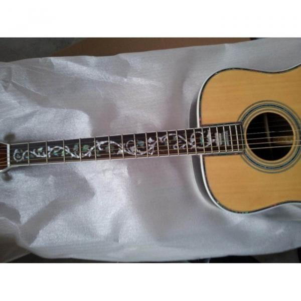 Custom 41 Inch Sitka Solid Spruce Top With Ox Bone Nut & Saddler Acoustic Guitar #4 image