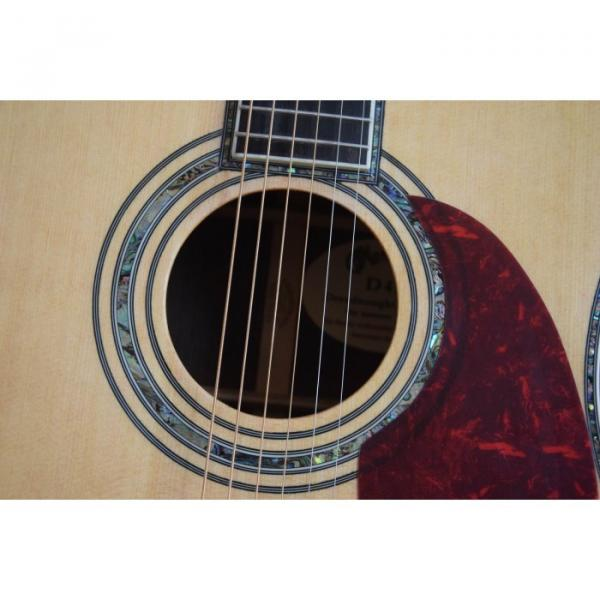 Custom D45 Acoustic Electric Guitar Natural Finish Sitka Solid Spruce #5 image