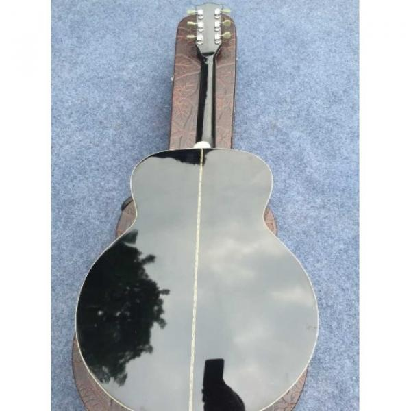 Custom J180 6 Strings Black Pearloid Pickguard Star Inlays Acoustic Guitar #3 image