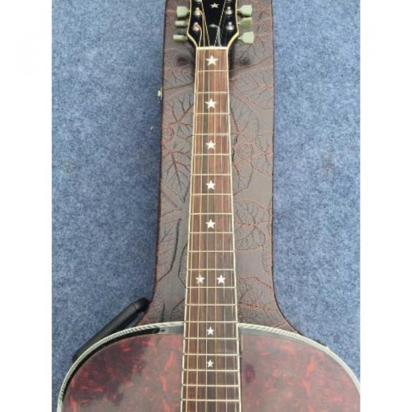 Custom J180 6 Strings Black Pearloid Pickguard Star Inlays Acoustic Guitar #4 image