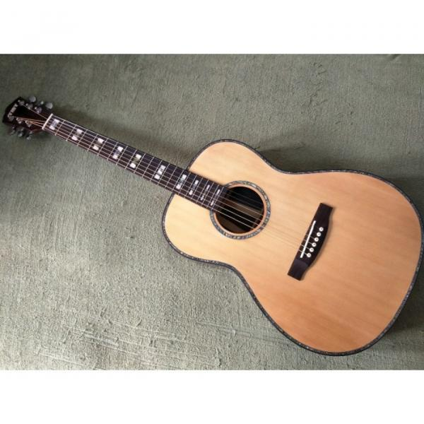 39 inch Natural Top Solid Spruce Acoustic Guitar #1 image