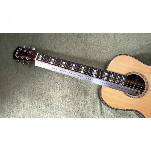 39 inch Natural Top Solid Spruce Acoustic Guitar #3 image