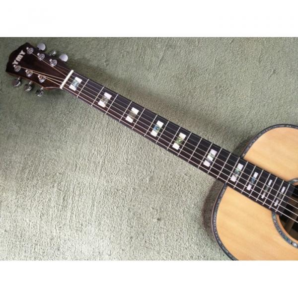 39 inch Natural Top Solid Spruce Acoustic Guitar #4 image