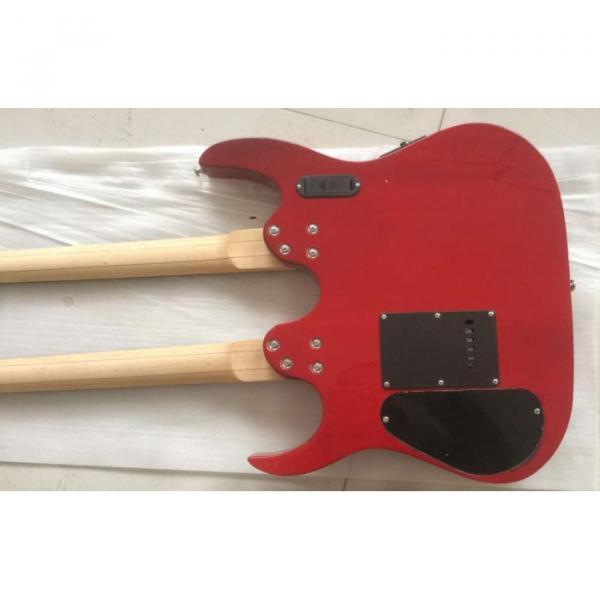 Custom Ibanez JEM 7V Red Double Neck Acoustic Electric 6 12 Strings Guitar #3 image