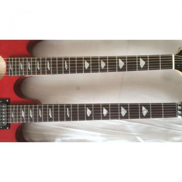 Custom Ibanez JEM 7V Red Double Neck Acoustic Electric 6 12 Strings Guitar #5 image