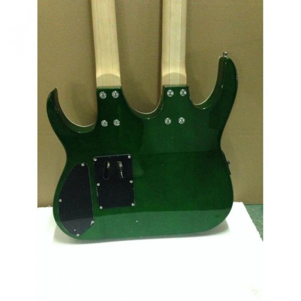 Custom Ibanez JEM 7V Green Double Neck Acoustic Electric 6 12 Strings Guitar #4 image