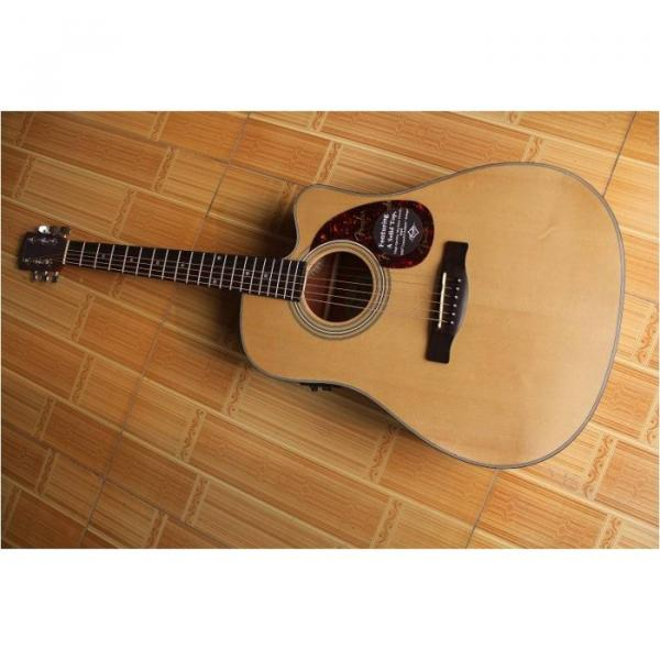 """Custom Cutaway 41"""" Acoustic Guitar Solid Spruce Top With EQ #1 image"""