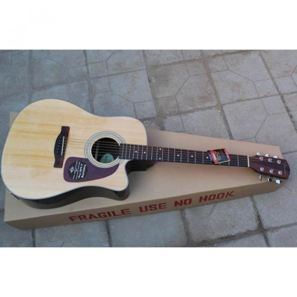 Custom Acoustic Electric Guitar Natural Finish CD280SCE #4 image