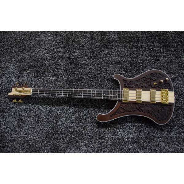 Project Lemmy Kilmister  Rickenbacker 4003 Matte Carved Natural Bass Back Strap Walnut Inspired Ash Body #1 image