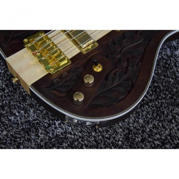 Project Lemmy Kilmister  Rickenbacker 4003 Matte Carved Natural Bass Back Strap Walnut Inspired Ash Body #2 image