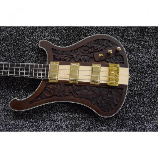 Project Lemmy Kilmister  Rickenbacker 4003 Matte Carved Natural Bass Back Strap Walnut Inspired Ash Body #5 image