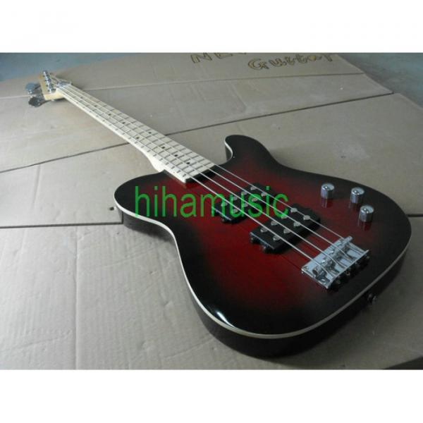 Red Asat 4 String Bass #1 image