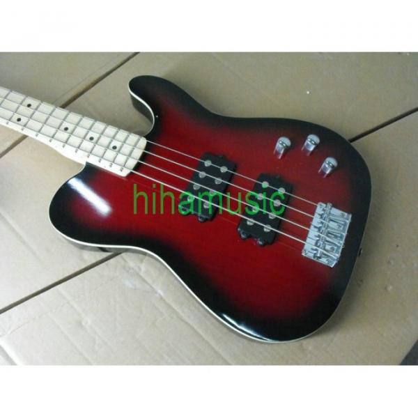 Red Asat 4 String Bass #5 image