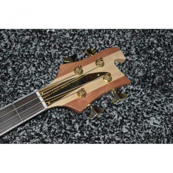 Lemmy Kilmister  Rickenbacker 4003 Matte Carved Natural Bass Back Strap with 5 String Bass Option Ash Wood #5 image