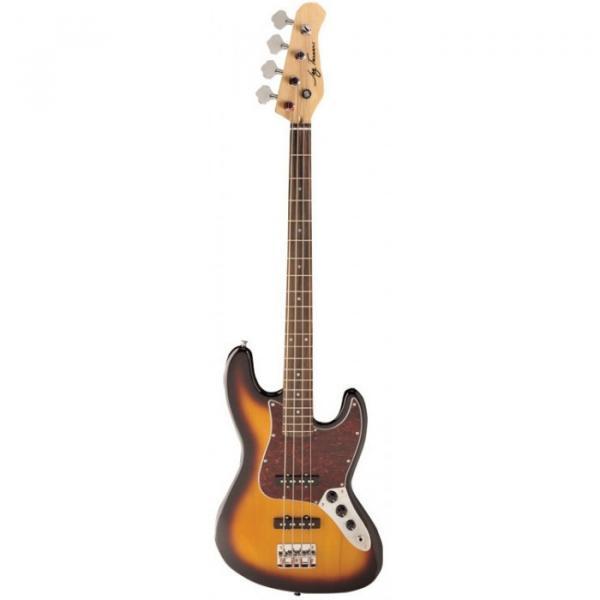 Jay Turser JTB-402 Series Electric Bass Guitar Tobacco Sunburst #1 image