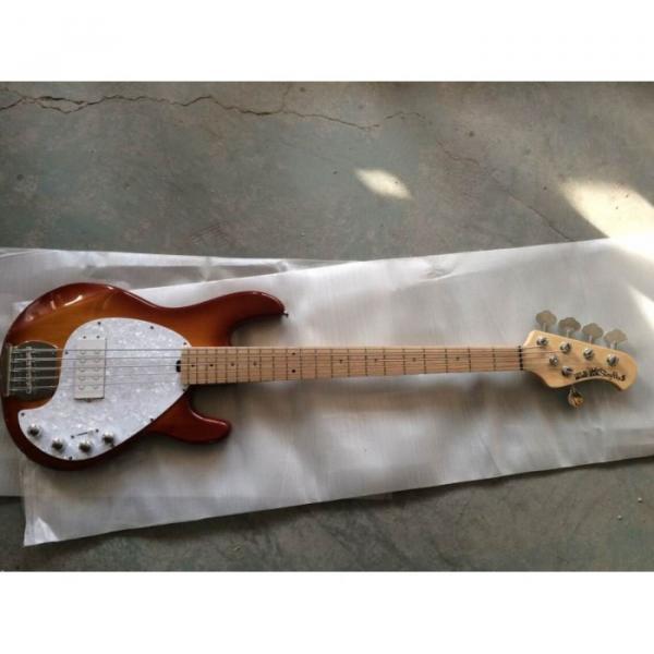 Custom Sunburst Music Man Ernie Ball Bass 9 V Battery Music Man S.U.B. Ray5 Passive Pickups #5 image