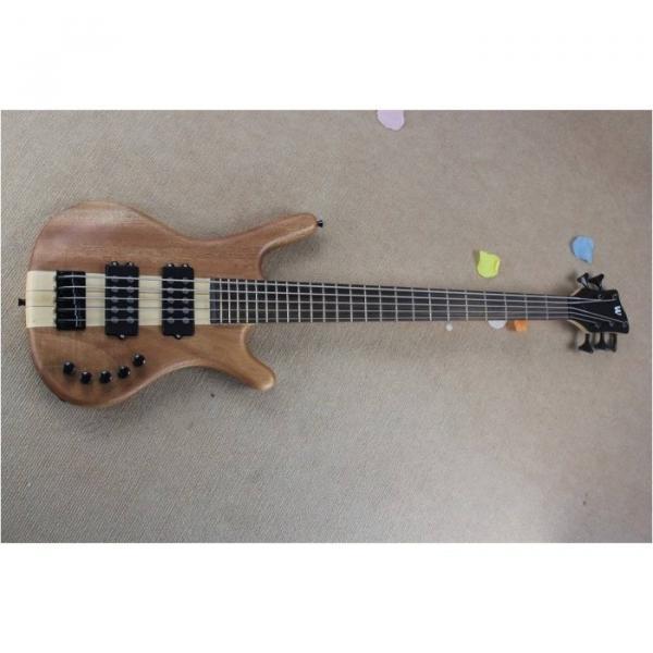 Custom Warwick 5 Strings Natural Electric Bass #1 image
