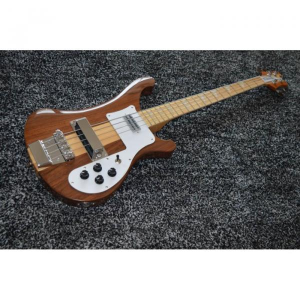 Custom Walnut Natural 4003 Neck Thru Body Construction 4 String Bass #1 image