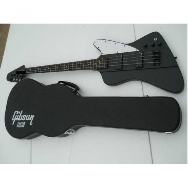 Custom Shop Thunderbird Black Explorer Matte Electric Bass #1 image