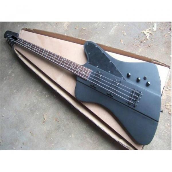 Custom Shop Thunderbird Black 1958 Explorer Matte Electric Bass #1 image