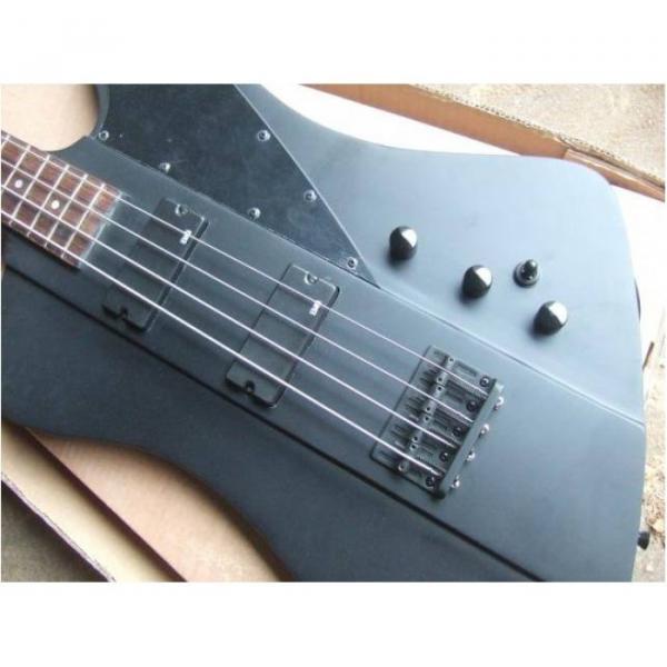Custom Shop Thunderbird Black 1958 Explorer Matte Electric Bass #5 image