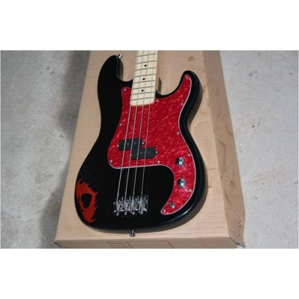 Custom Shop Squire Black Wilkinson Parts 4 String Bass #1 image