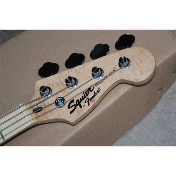 Custom Shop Squire Black Wilkinson Parts 4 String Bass #3 image