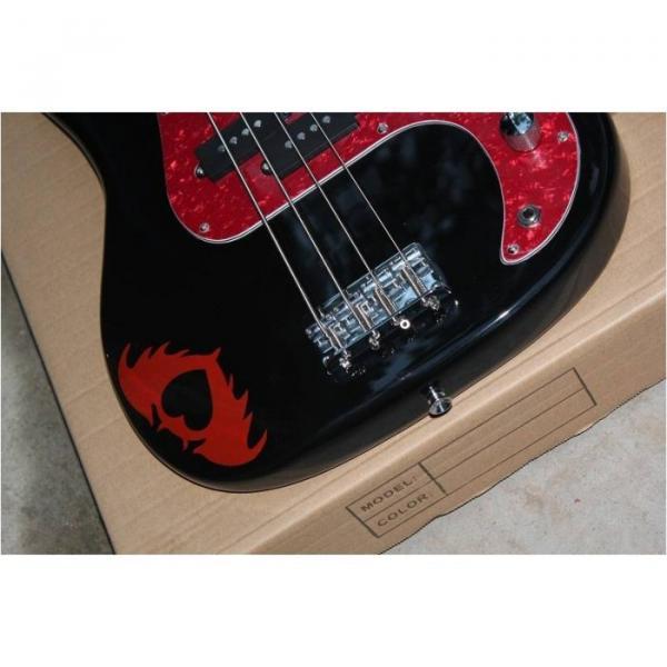 Custom Shop Squire Black Wilkinson Parts 4 String Bass #4 image