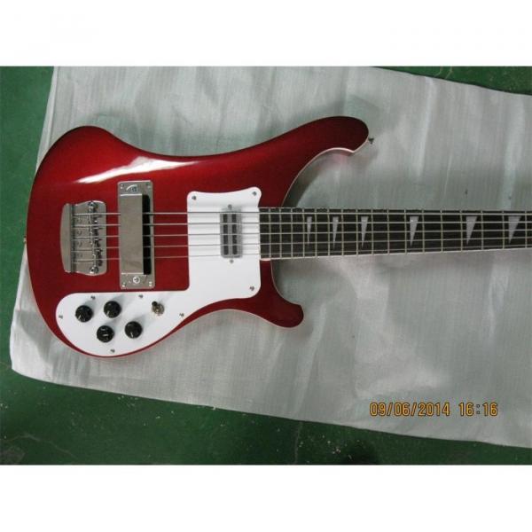 Custom Shop Red Wine 4003 5 String Bass #1 image