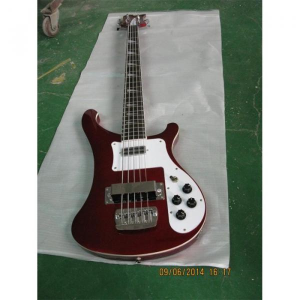 Custom Shop Red Wine 4003 5 String Bass #3 image