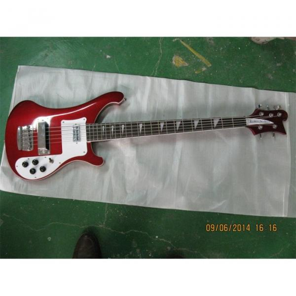 Custom Shop Red Wine 4003 5 String Bass #4 image