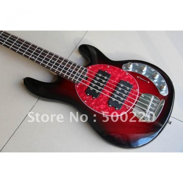 Custom Shop MusicMan Red 5 Strings Bass #1 image