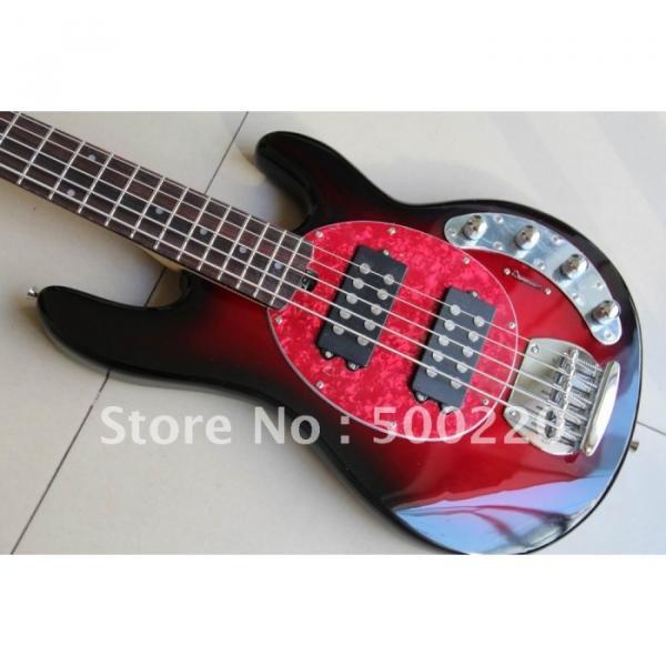 Custom Shop MusicMan Red 5 Strings Bass #4 image