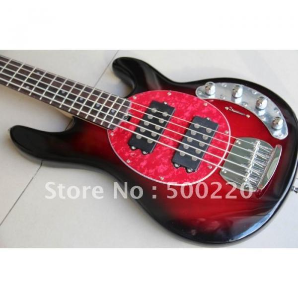 Custom Shop MusicMan Red 5 Strings Bass #5 image