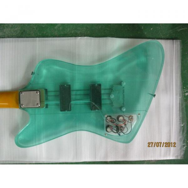 Custom Shop Green Acrylic 4 String Bass #1 image
