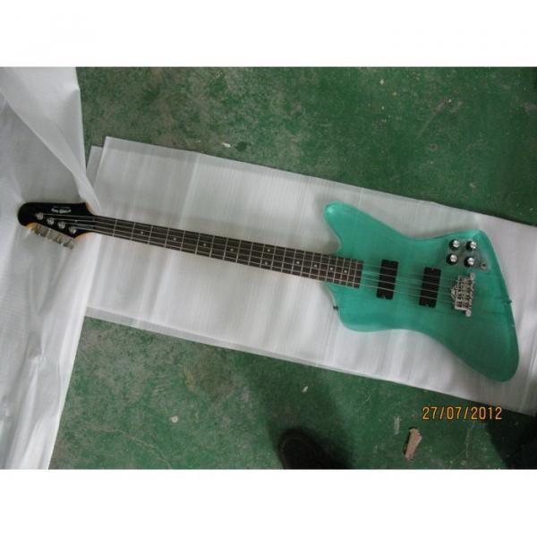 Custom Shop Green Acrylic 4 String Bass #3 image
