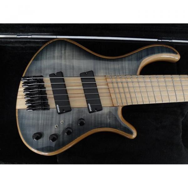 Custom Shop Gray Burst Flame Maple Top Patriot 6 String Bass #1 image