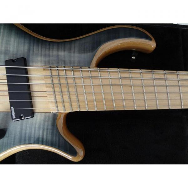 Custom Shop Gray Burst Flame Maple Top Patriot 6 String Bass #2 image
