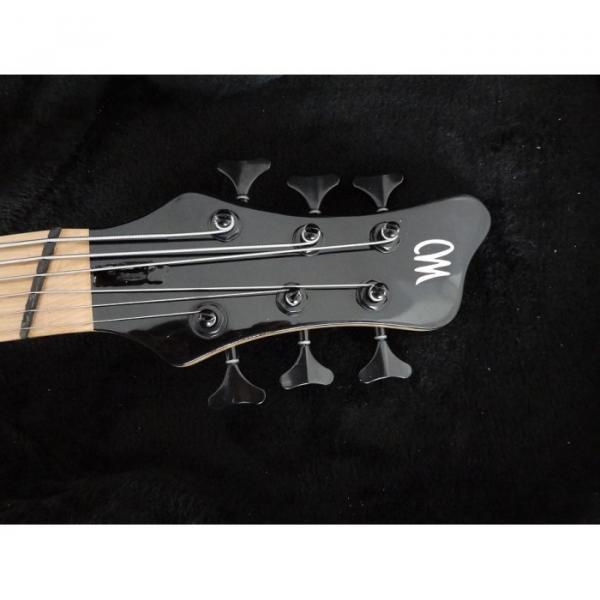Custom Shop Gray Burst Flame Maple Top Patriot 6 String Bass #3 image