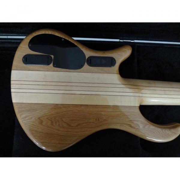Custom Shop Gray Burst Flame Maple Top Patriot 6 String Bass #5 image