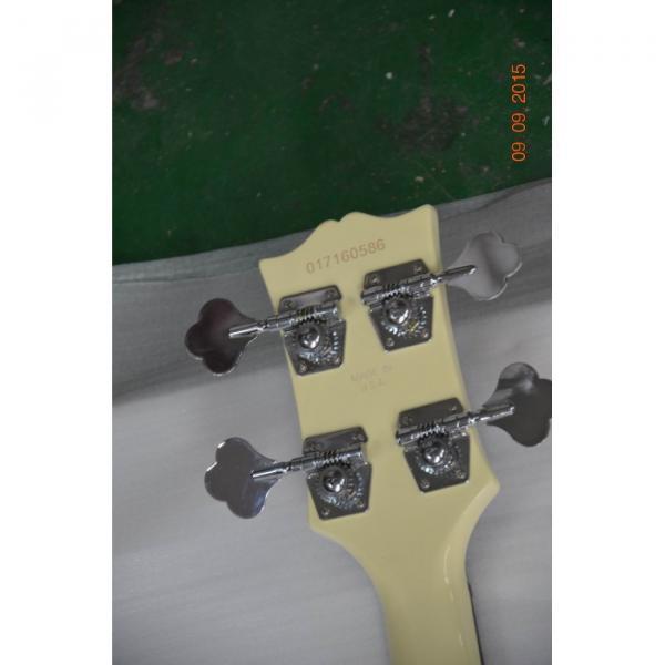 Custom Shop Cream Arctic White Midtown 4 String Fhole Semi Hollow Bass #2 image