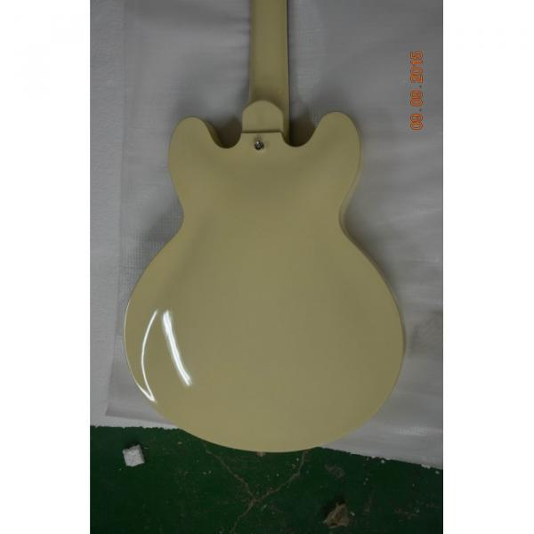 Custom Shop Cream Arctic White Midtown 4 String Fhole Semi Hollow Bass #3 image