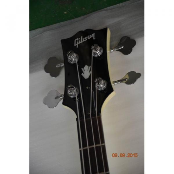 Custom Shop Cream Arctic White Midtown 4 String Fhole Semi Hollow Bass #5 image
