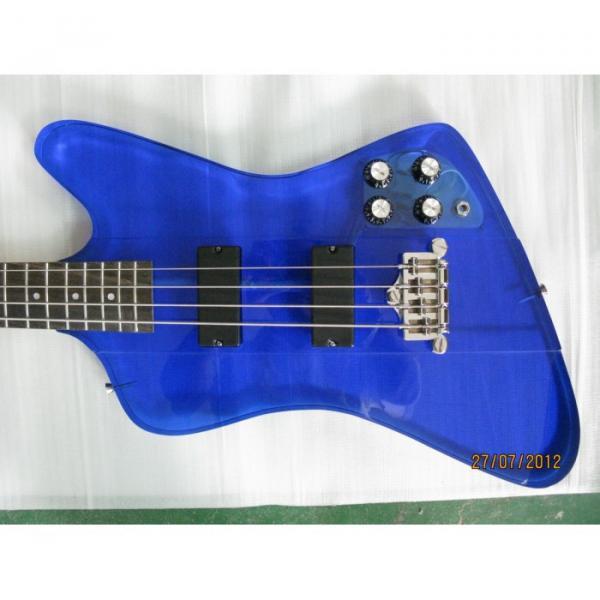 Custom Shop Blue Acrylic 4 String Bass #1 image