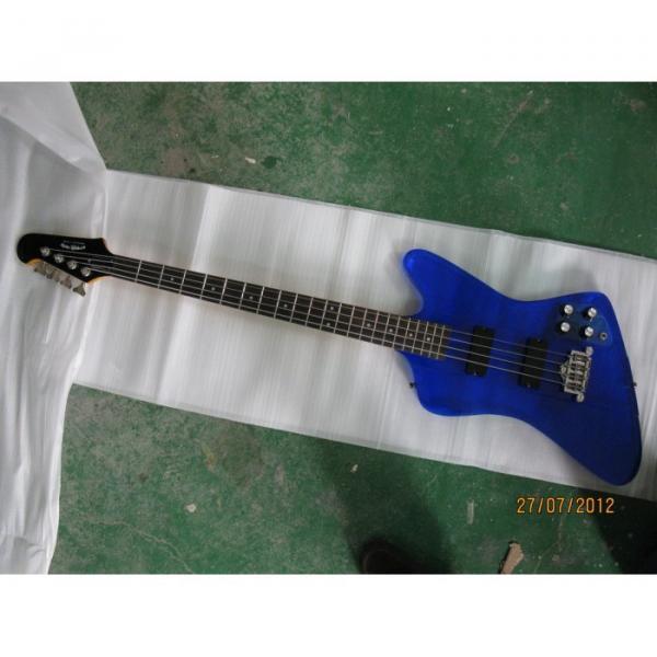 Custom Shop Blue Acrylic 4 String Bass #3 image