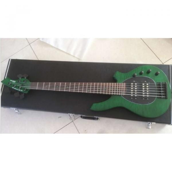 Custom Shop Bongo Music Man Green Quilted Maple Top 6 Strings Bass #3 image