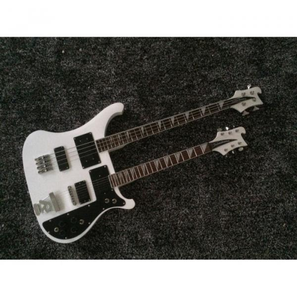 Custom Shop 4080 Double Neck Geddy Lee White 4 String Bass 6/12 String Guitar #1 image
